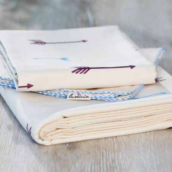 Bio Bettwäsche mit Pfeil Motiv aus 100% Bio-Baumwolle handbedruckt