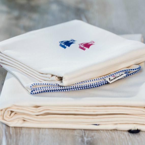 Bio Bettwäsche mit Schiff Motiv aus 100% Bio-Baumwolle handbedruckt